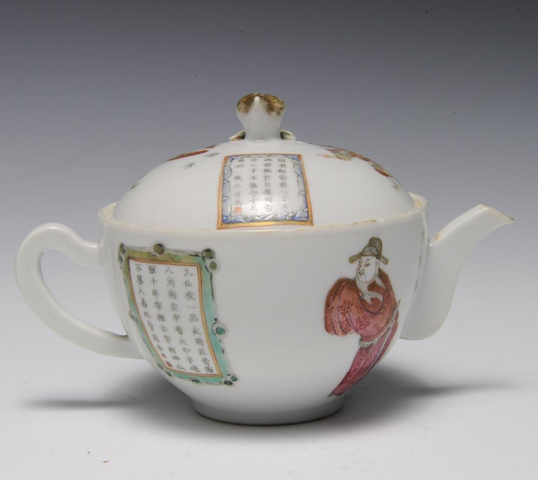 Trio of Famille Rose Teapots, 19th Century - 3