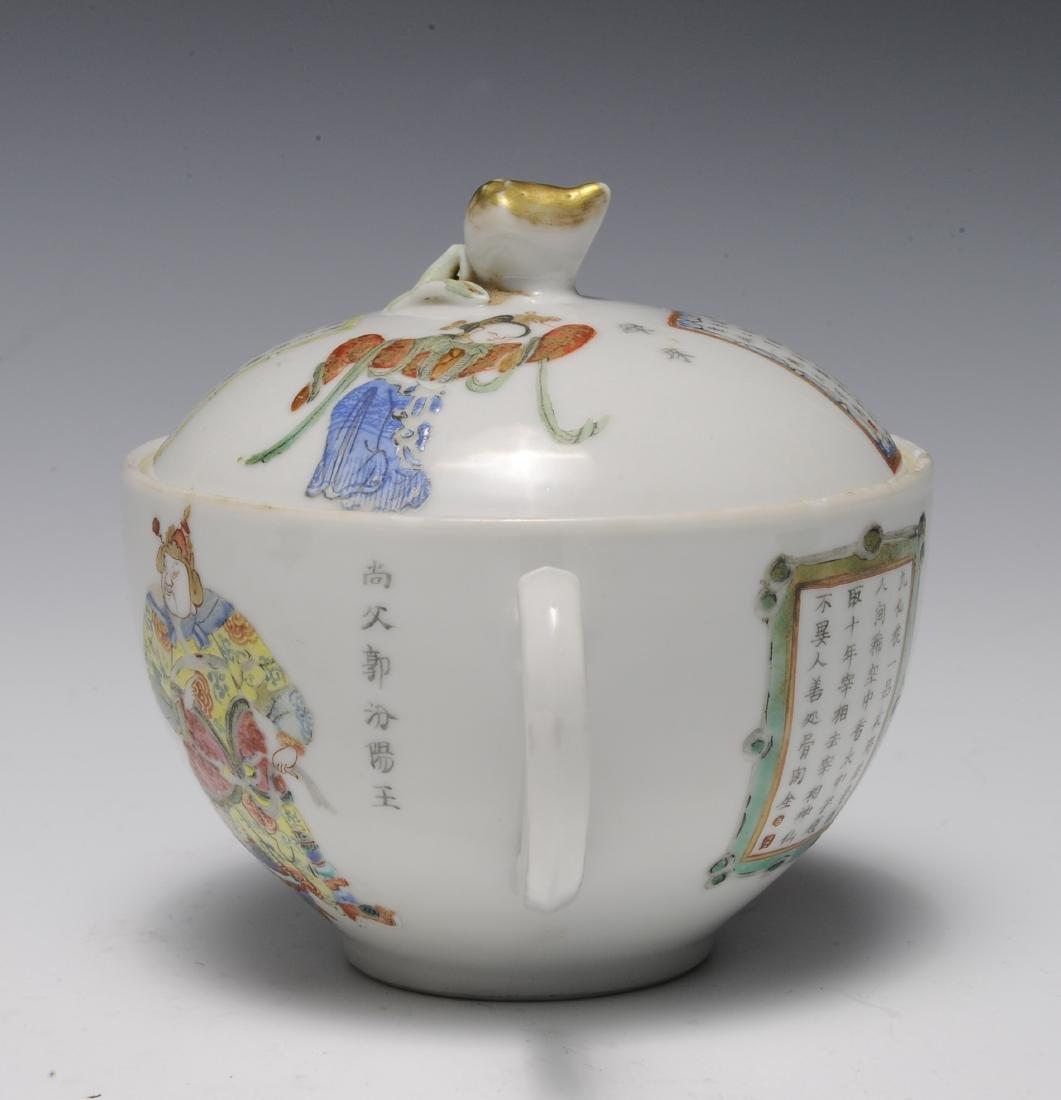 Trio of Famille Rose Teapots, 19th Century - 4