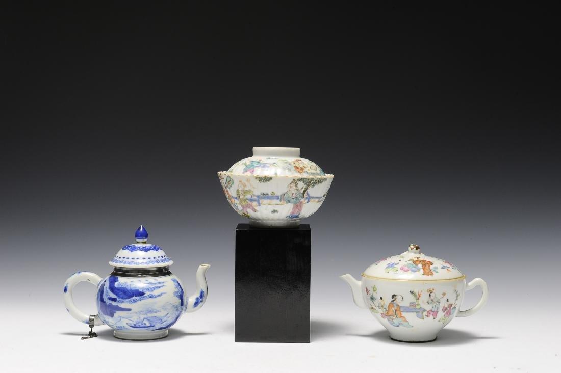 Three Porcelain Items, 18th - 19th Century