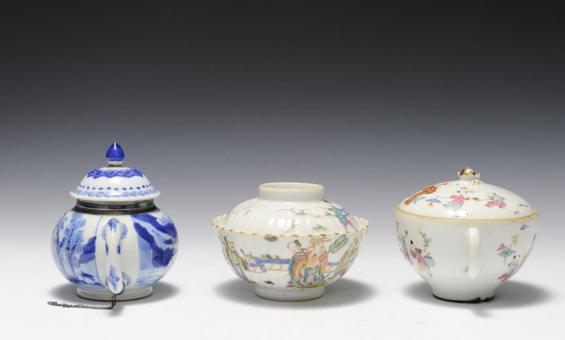 Three Porcelain Items, 18th - 19th Century - 2