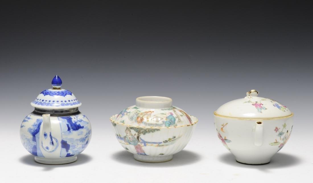 Three Porcelain Items, 18th - 19th Century - 3