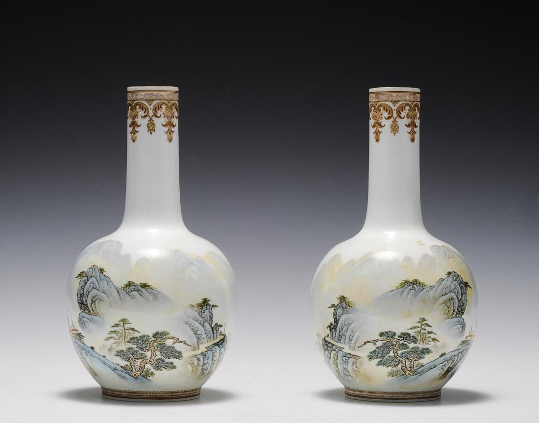 Pair of Eggshell Vases, 1960's - 1970's