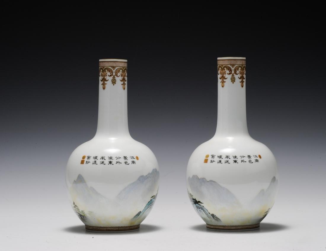 Pair of Eggshell Vases, 1960's - 1970's - 3