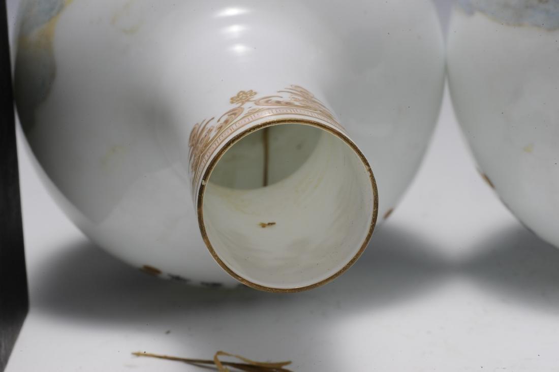 Pair of Eggshell Vases, 1960's - 1970's - 7