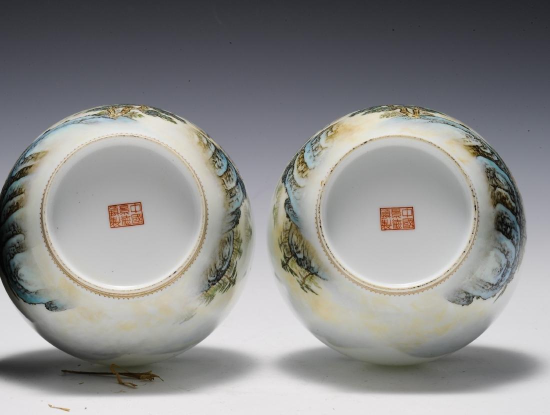 Pair of Eggshell Vases, 1960's - 1970's - 8