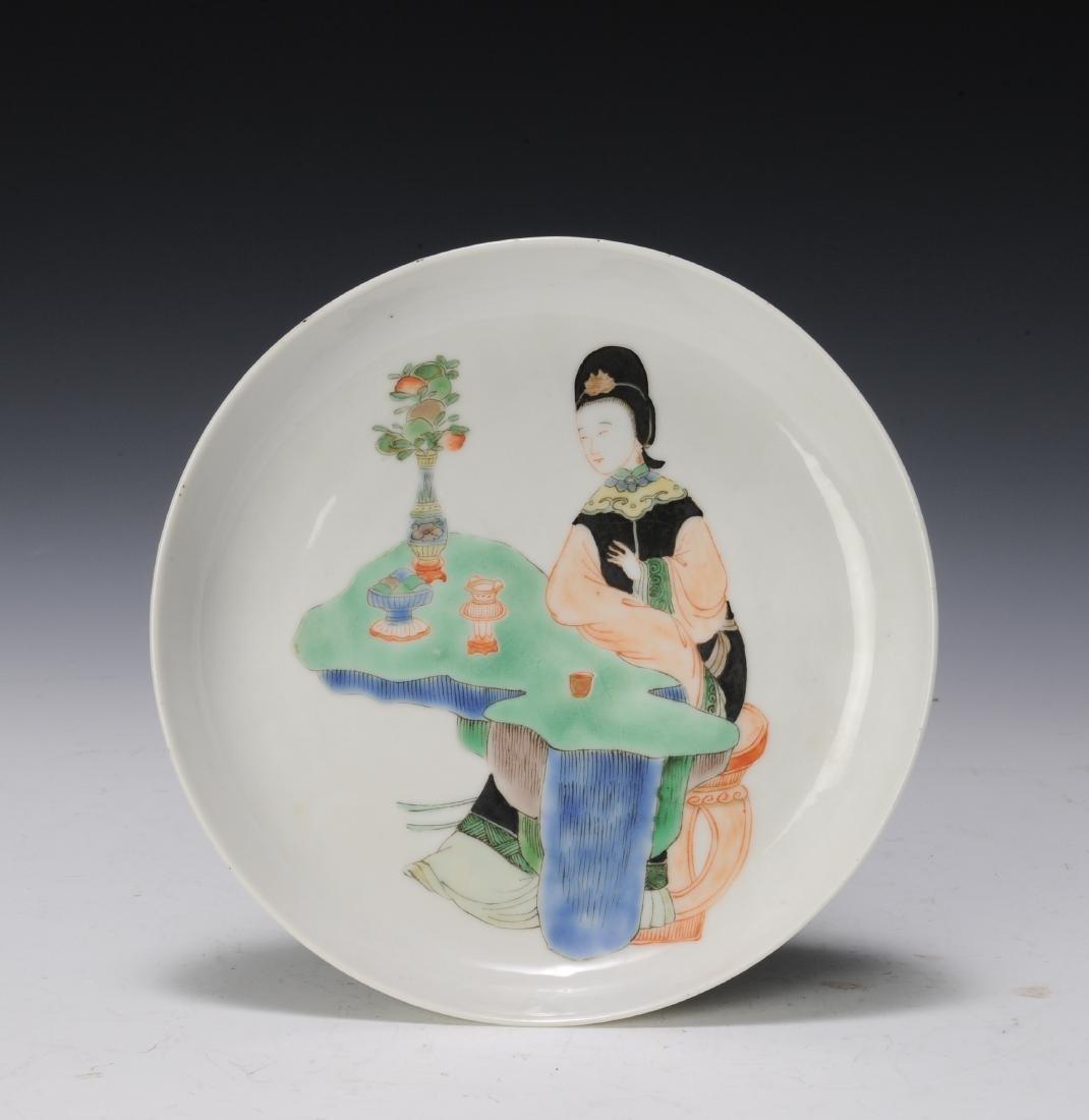 Famille Verte Plate, Late 19th Century