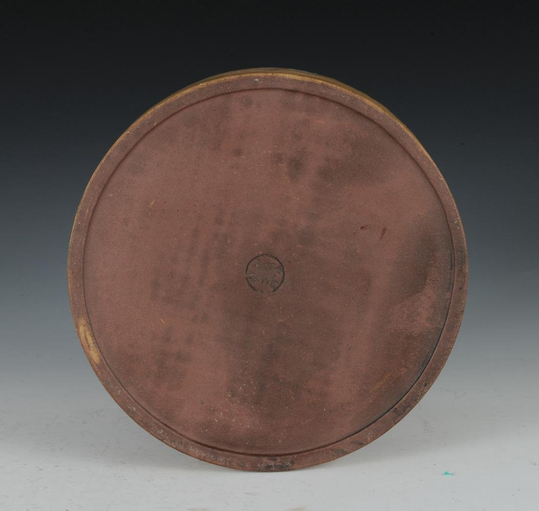 Yixing Brush Pot with Enameling, Republic Period - 6