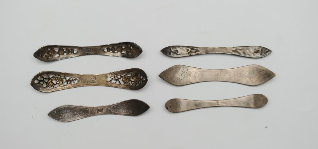 Six Silver Enamel Hair Pins, 19th Century - 2