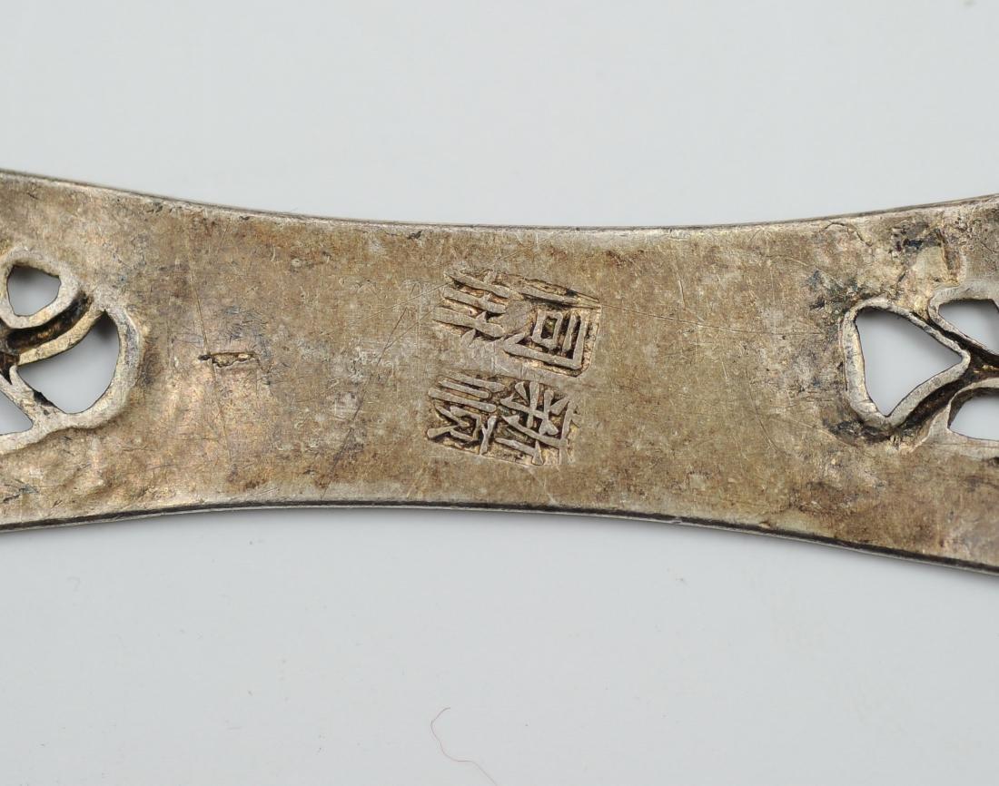 Six Silver Enamel Hair Pins, 19th Century - 4