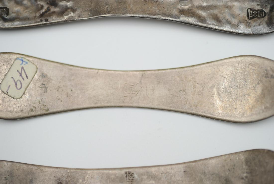 Six Silver Enamel Hair Pins, 19th Century - 7