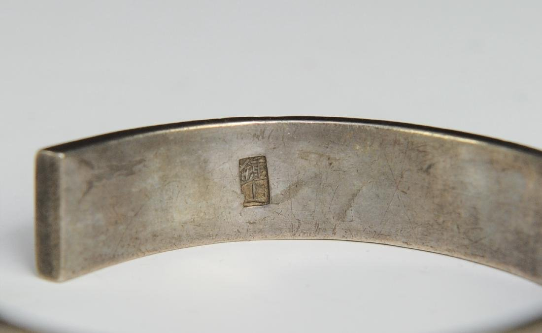 Silver Gilt Bracelet of People, 19th Century - 6
