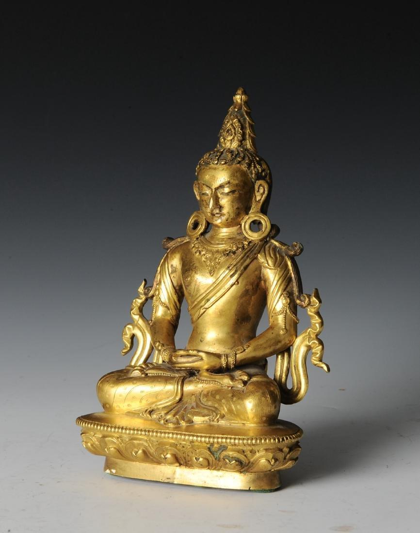 Gilt Bronze Buddha, 18th - 19th Century