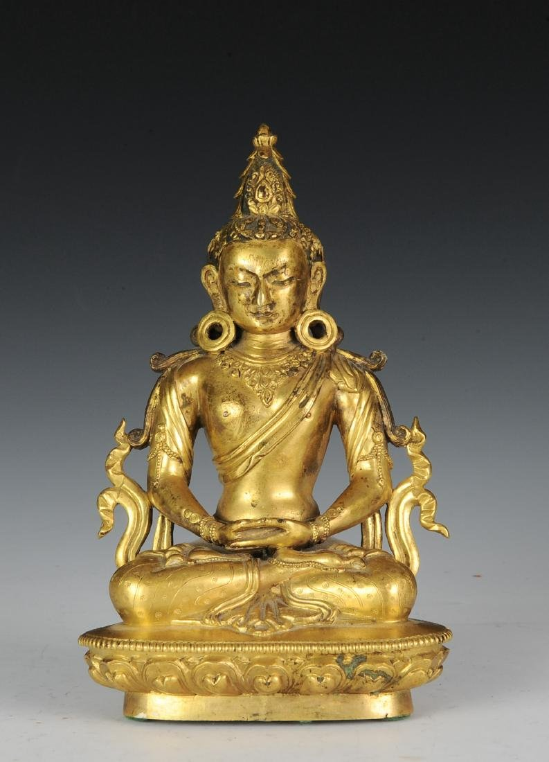 Gilt Bronze Buddha, 18th - 19th Century - 2