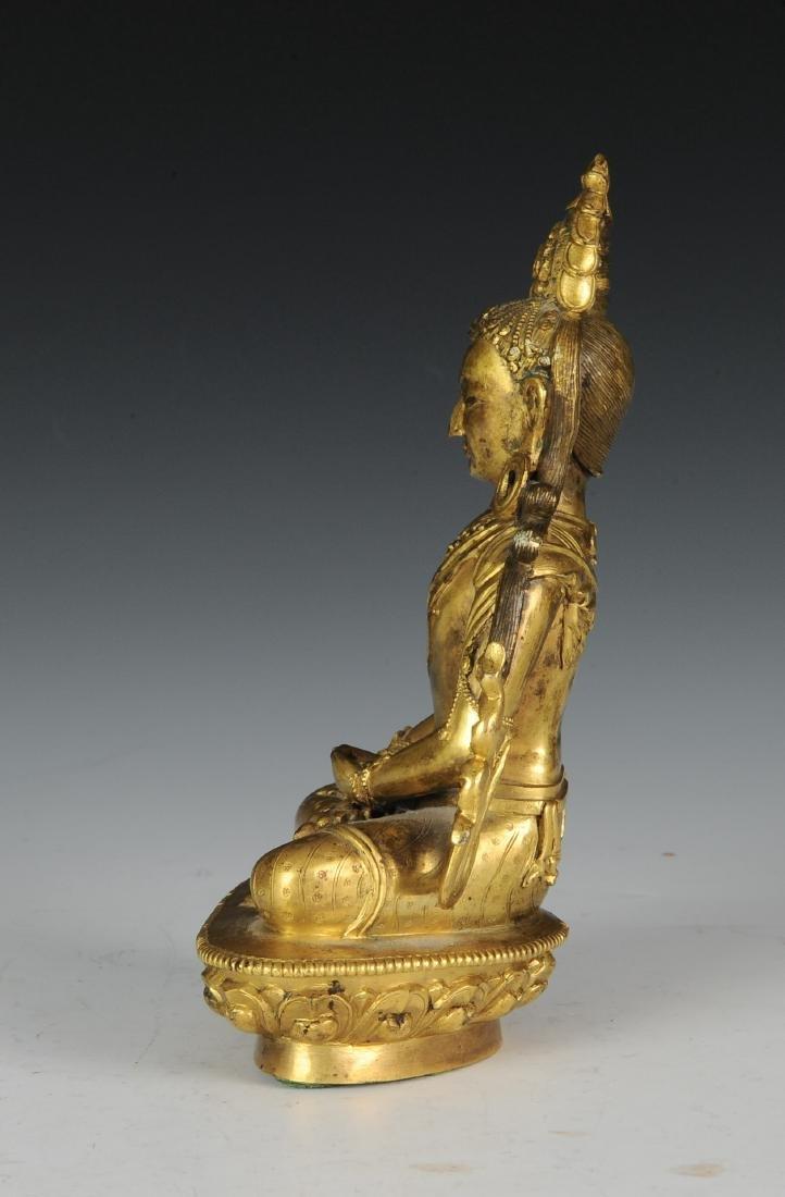 Gilt Bronze Buddha, 18th - 19th Century - 3