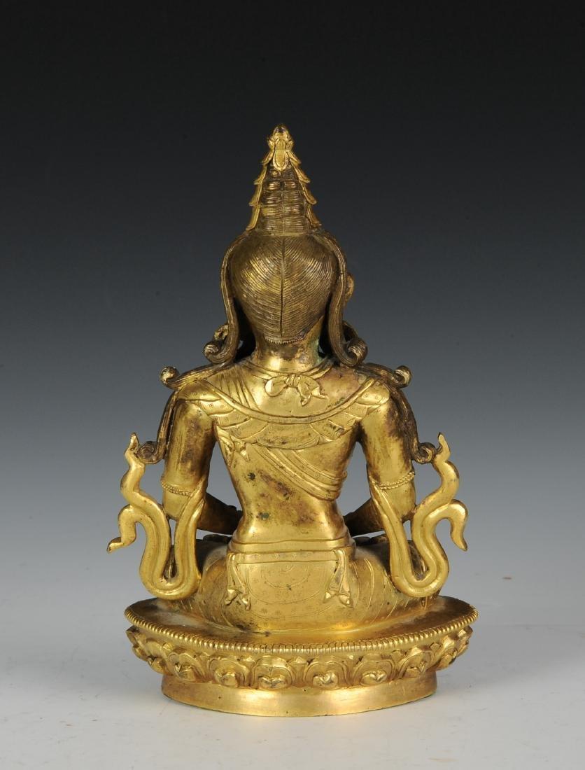 Gilt Bronze Buddha, 18th - 19th Century - 4