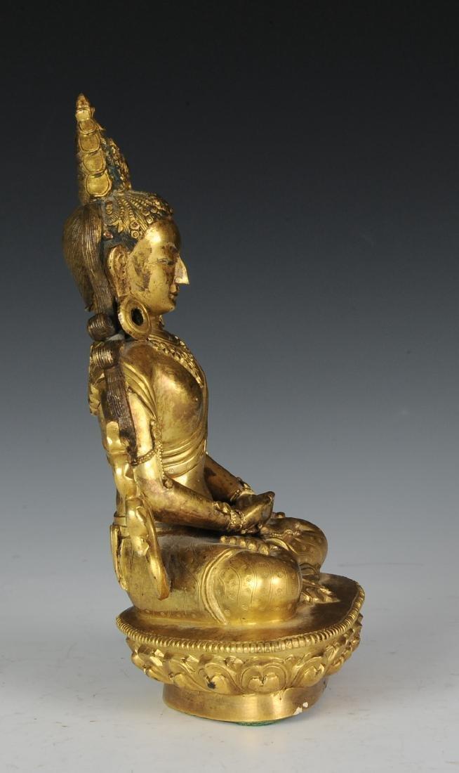 Gilt Bronze Buddha, 18th - 19th Century - 5