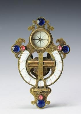 Brass & Glass Compass Instrument, Early 19th Century
