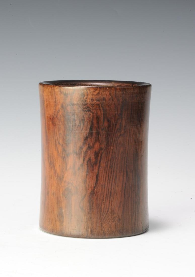 Huanghuali Brush Pot, 18th Century - 3