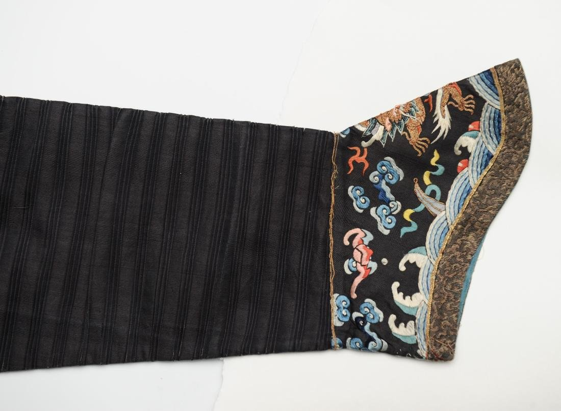 Blue Embroidered Dragon Robe, 19th Century - 6