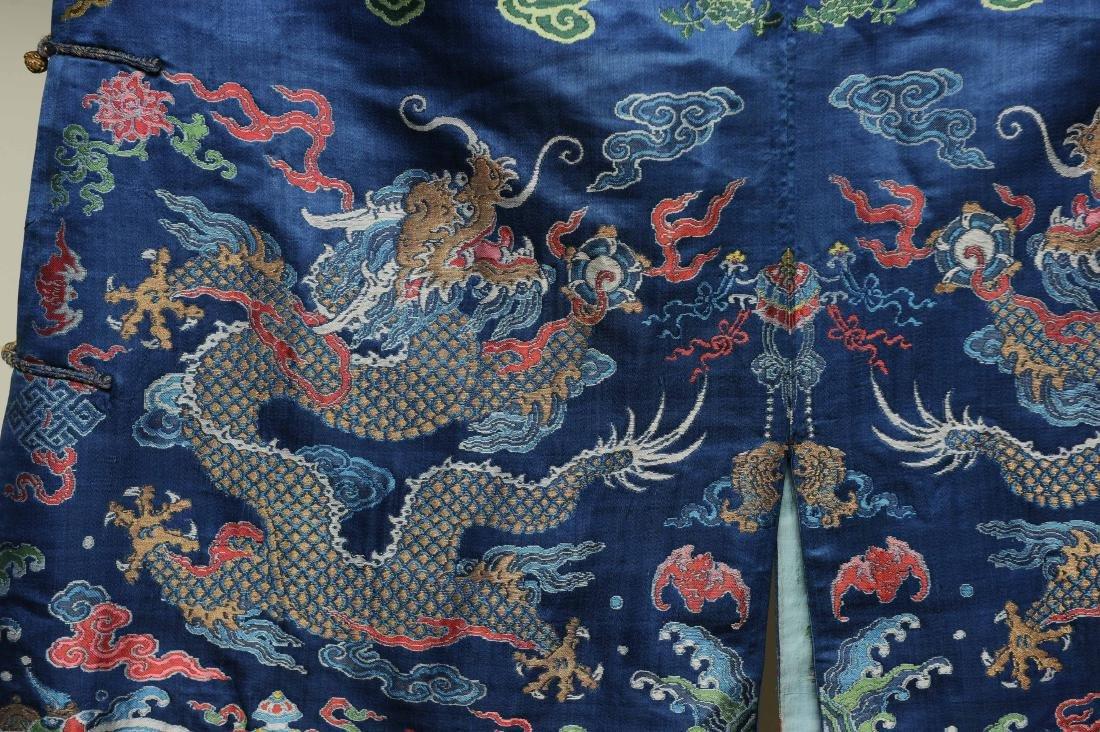 Blue Ground Dragon Robe, 19th Century - 4