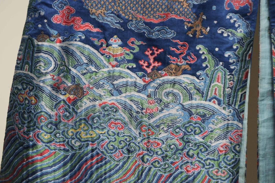 Blue Ground Dragon Robe, 19th Century - 5