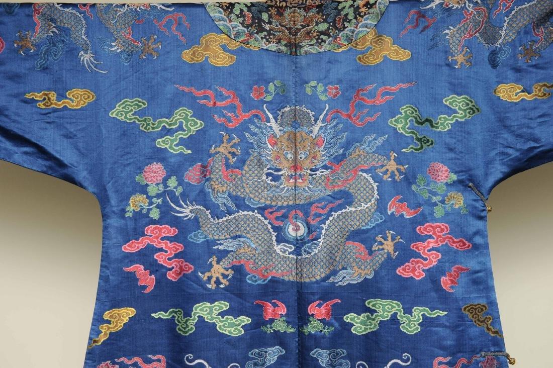 Blue Ground Dragon Robe, 19th Century - 8