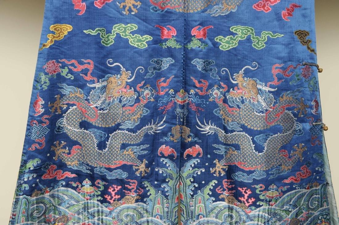 Blue Ground Dragon Robe, 19th Century - 9