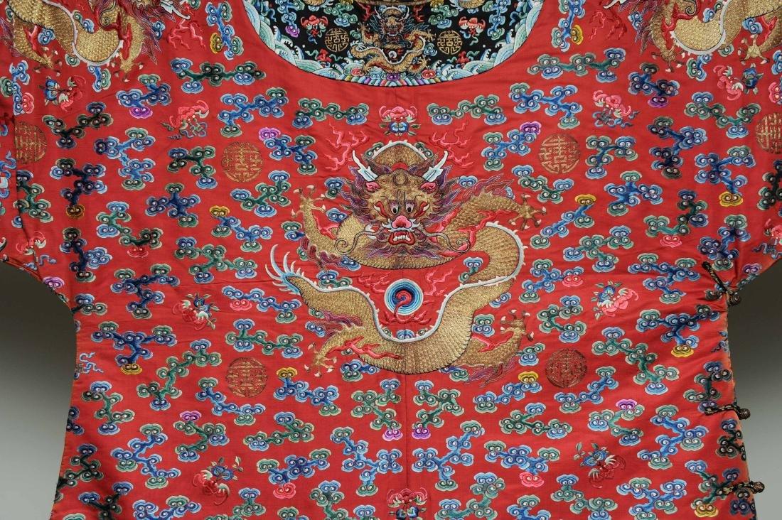 Red Dragon Robe, 19th Century - 7