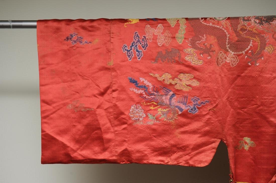 Red Ground Dragon Robe, 19th Century - 3