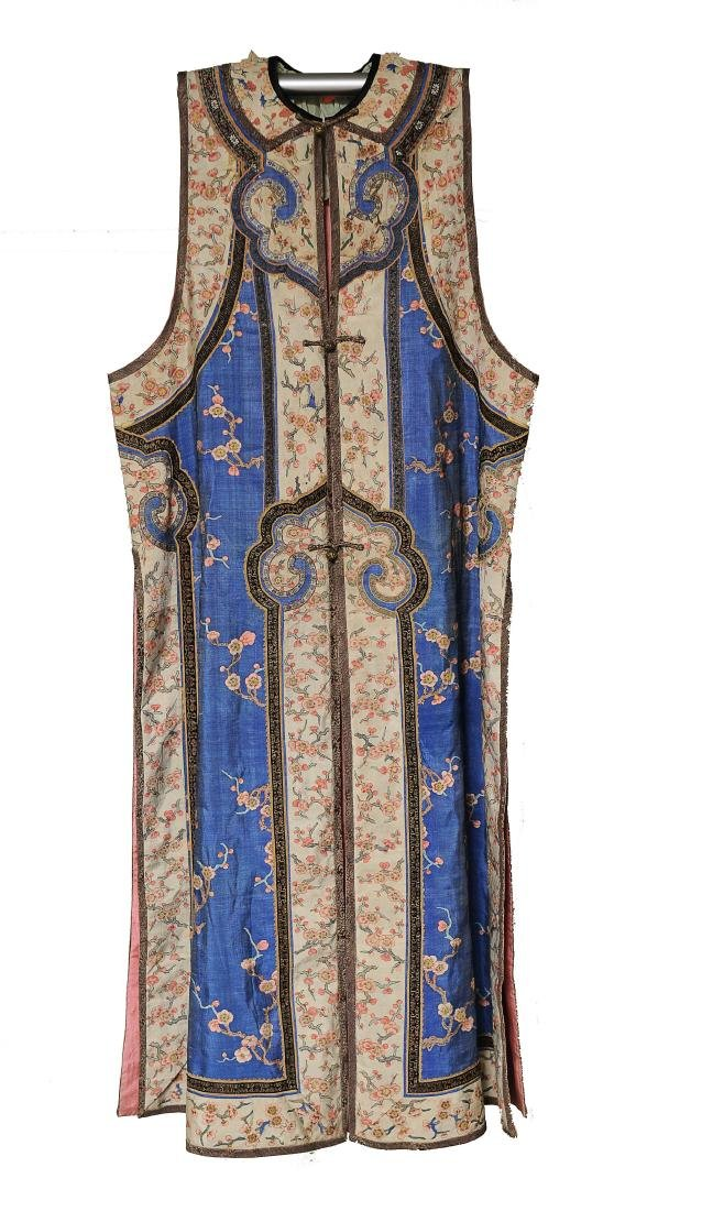 Blue Ground Plum Blossom Robe, 19th Century