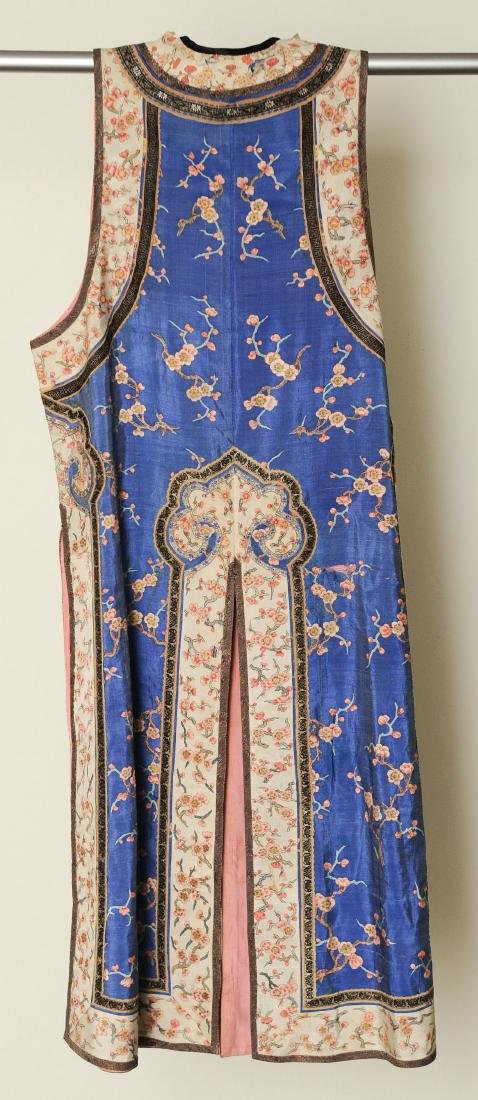 Blue Ground Plum Blossom Robe, 19th Century - 6