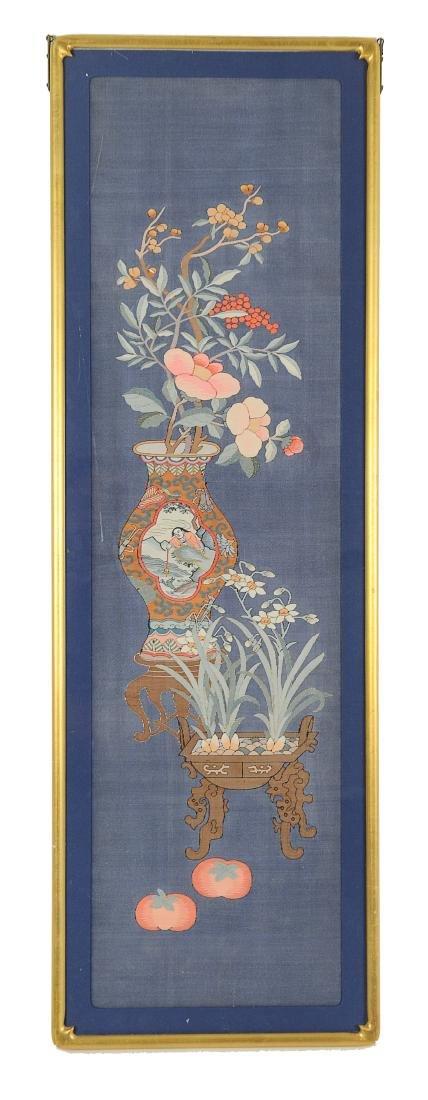 Blue Ground Kesi Panel, 19th Century
