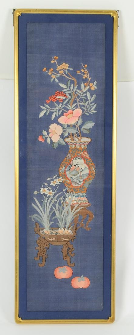 Blue Ground Kesi Panel, 19th Century - 2