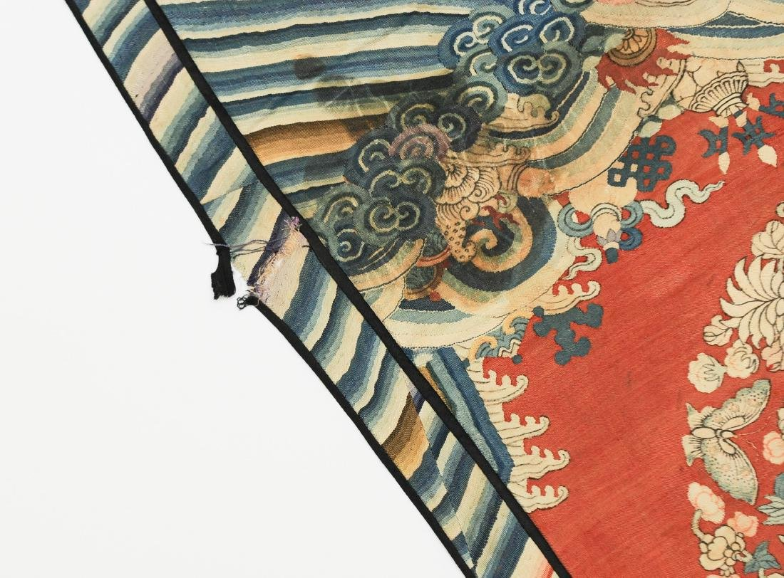 Double Crane Silk Panel, 18th - 19th Century - 4