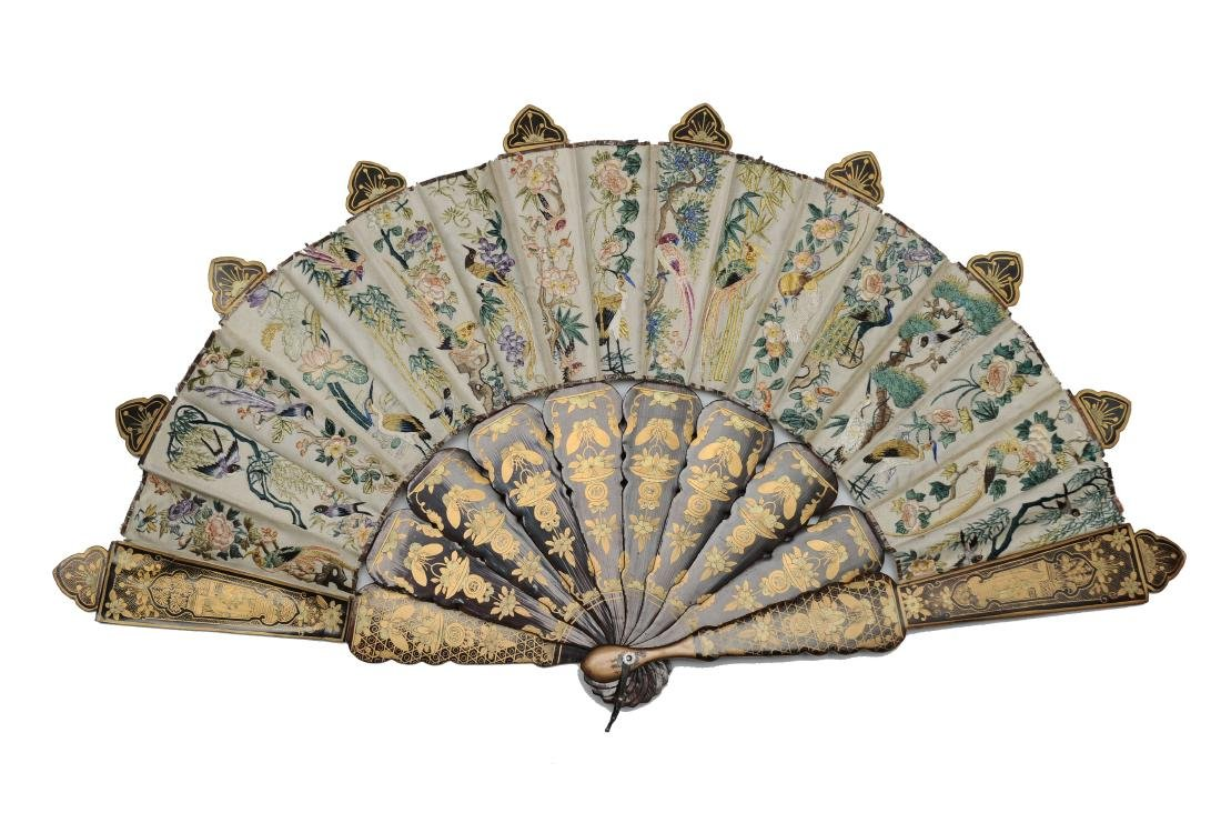 Chinese Export Fan, 19th Century