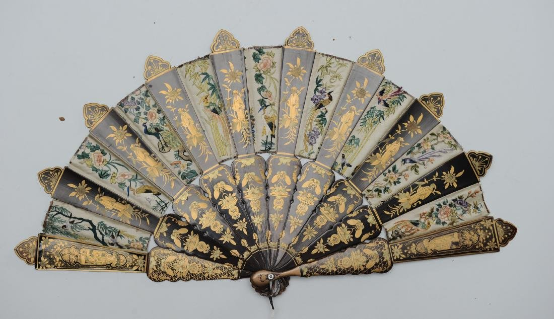 Chinese Export Fan, 19th Century - 3