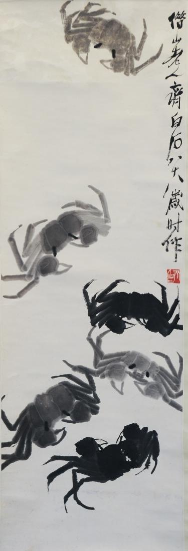 Painting of Crabs, Qi Baishi (1864 - 1957)