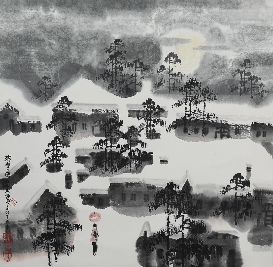 Painting of Snowy City, Xu Xi (1940 - )