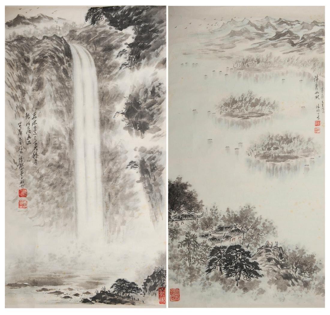 Two Paintings, Chen Shuijin