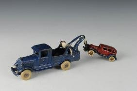 Two Cast Iron Vehicles by Wilkins & Hubley