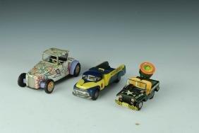 Three Japanese Tin Toy Vehicles