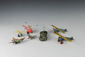 Lot of Seven Aviation Toys