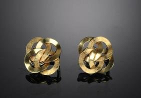 A Pair of 14K Gold Earrings