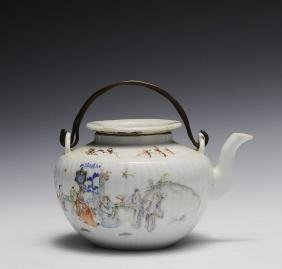 Famille Rose Teapot, Late Qing Dynasty