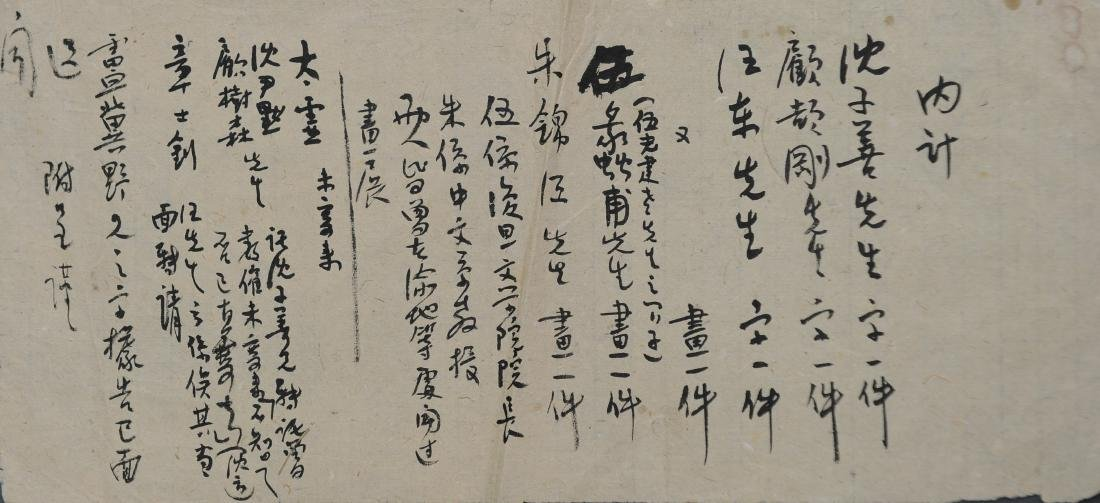 List of Paintings & Calligraphies of Xian Zhou