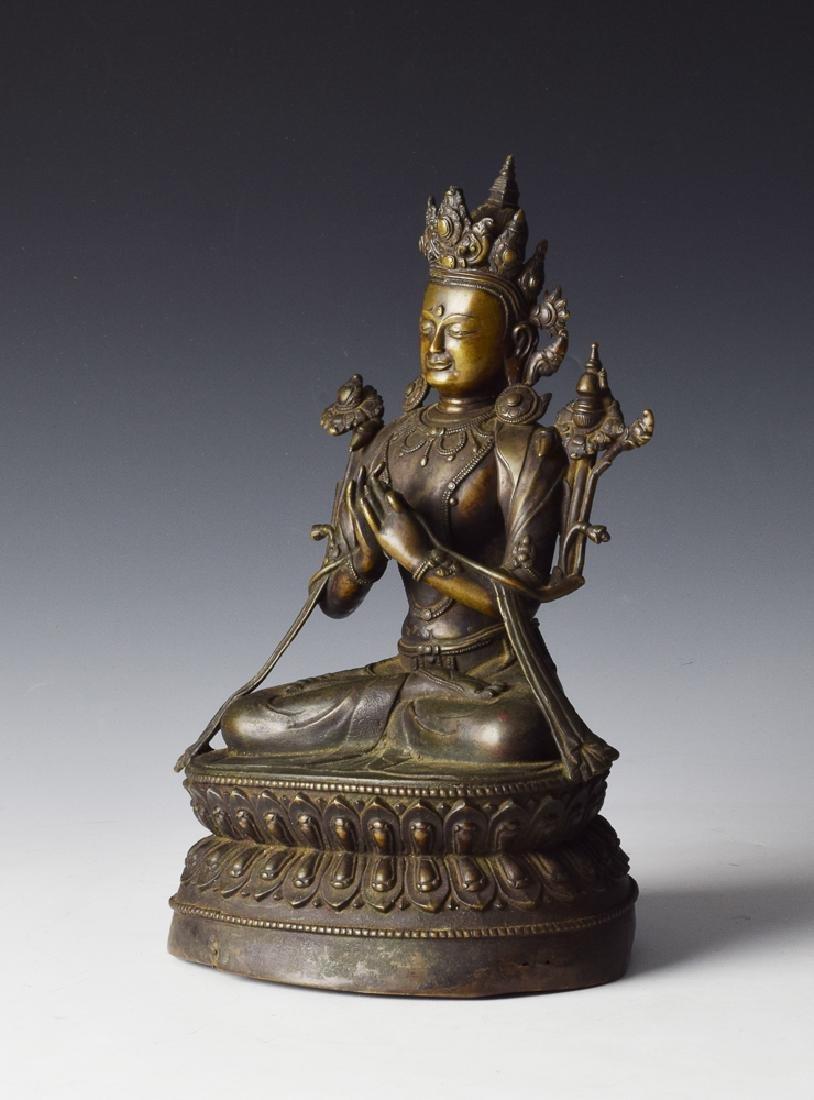 Chinese Seated Bronze Buddha, Ming Dynasty