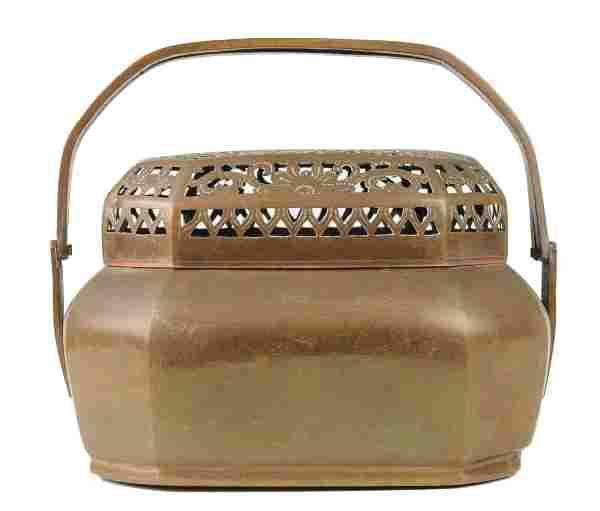 Chinese Brass Hand Warmer, 19th Century