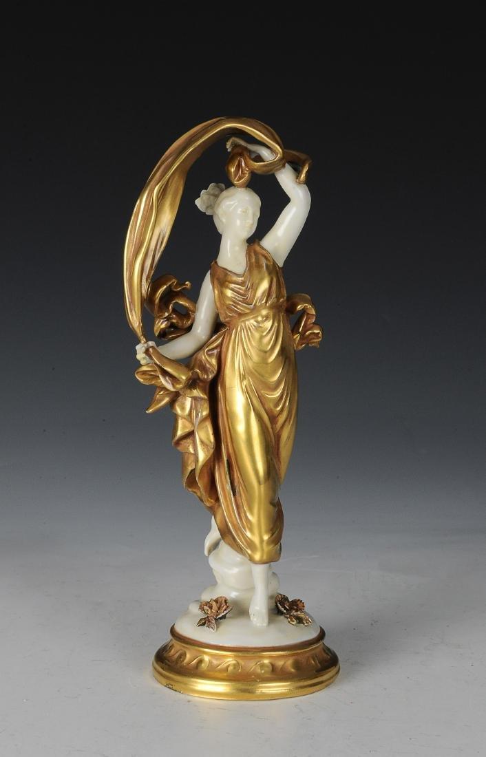European Female Porcelain Figure w/ Gilt