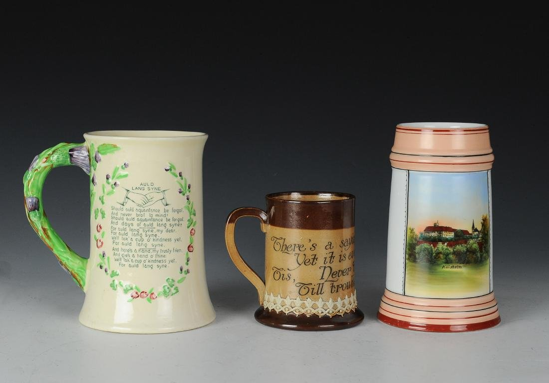 Three Porcelain Mugs