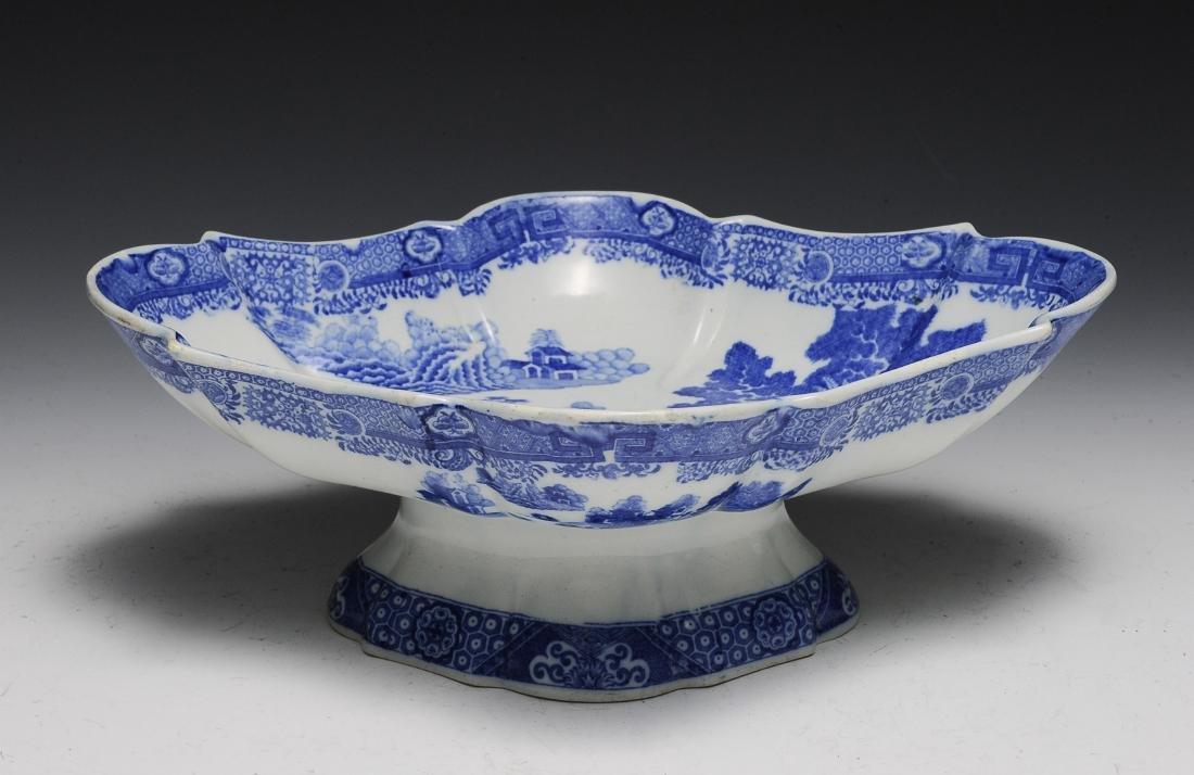 Blue & White Serving Dish, 19th Century